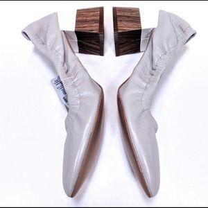 NWOT Zara Grey Leather Color Block Heels